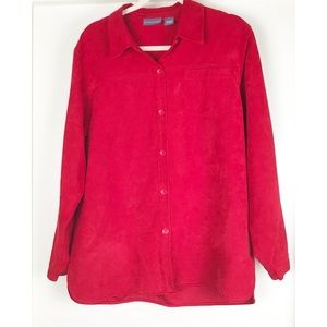 Relativity Women Red Top Size Large